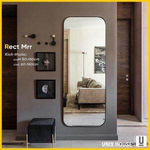 Gương soi toàn thân chữ nhật viền thép sơn tĩnh điện