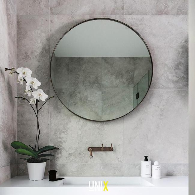 Mẫu gương tròn viền thép sơn tĩnh điện