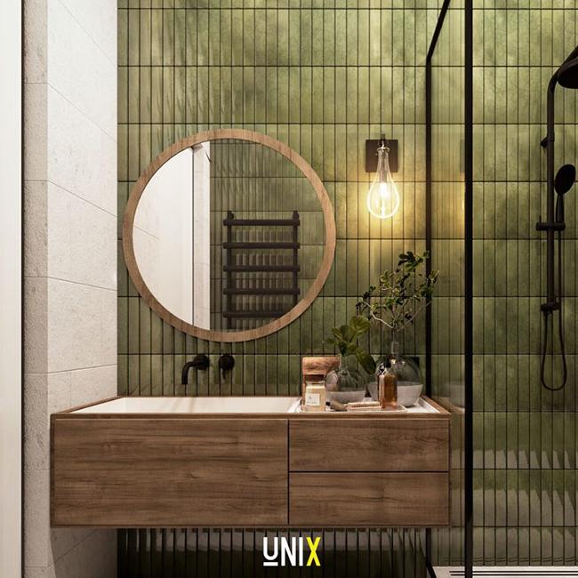 Gương tròn viền gỗ - TR04