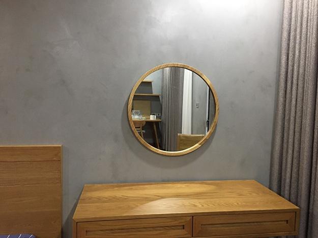 Gương tròn viền gỗ - TR-04