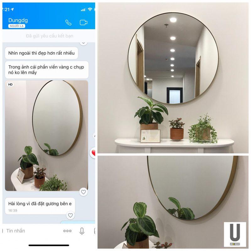 Feedback gương tròn nhà tắm tại Unix house