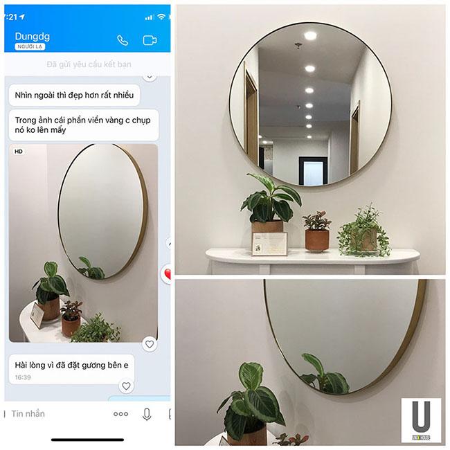 Feedback gương phòng tắm