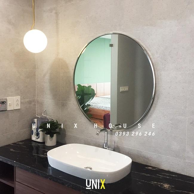 gương nhà tắm viền inox